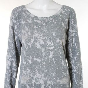 J. Crew Gray White Abstract Sweatshirt Size S